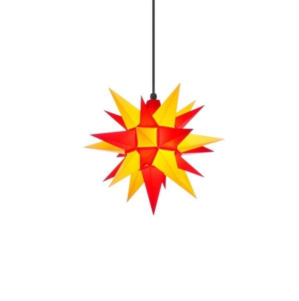 Herrnhuter Stern für Außen, A4 Gelb-Rot 40 cm