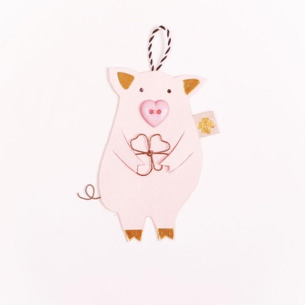 Glücksschweinchen Klee