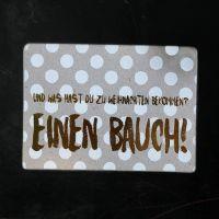 """Winter Postkarte """"Einen Bauch"""""""