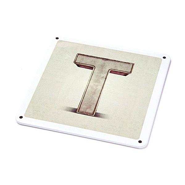 """Metallschild - """"T"""""""