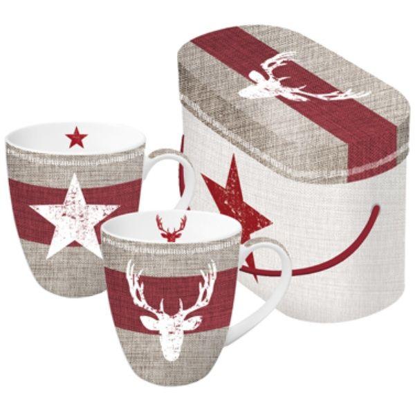 Henkelbecher Fashion Deer & Star 2er Set