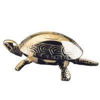 Schildkröte/Tischglocke - 23-Karat vergoldet