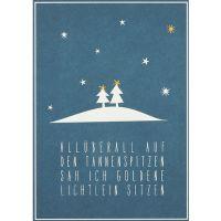 "Winter Postkarte ""All überall"""