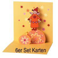 "Himmlische Schwestern Pop-Up Karte ""Motiv 4"" 6er Set"