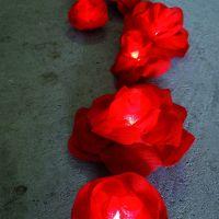 Blumen Lichterkette Rot