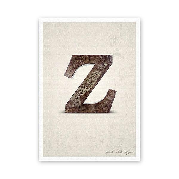 """Postkarte - """"Z"""""""