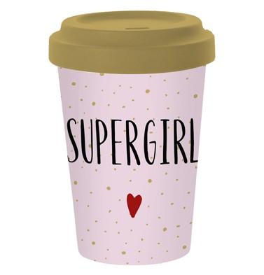 Reise-Kaffeebecher Supergirl