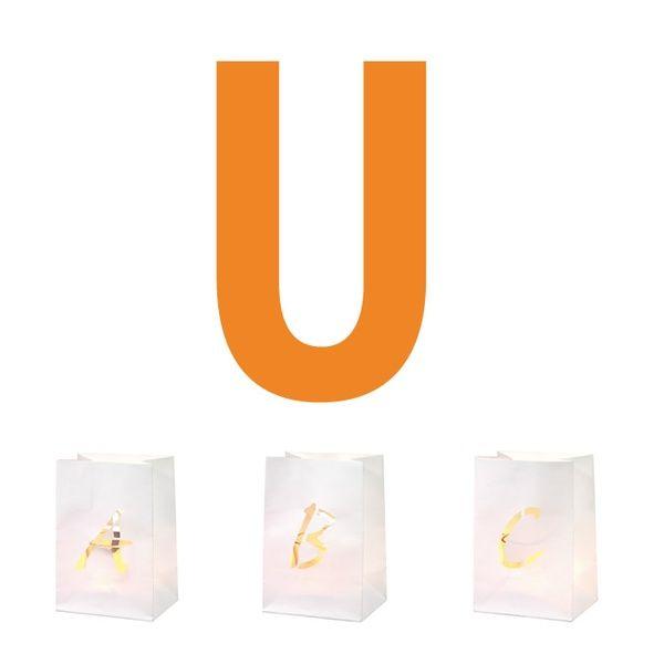 Buchstaben Lichttüte U