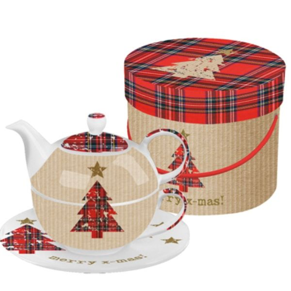 Tea 4 in One Sets Bone Tartan Tree