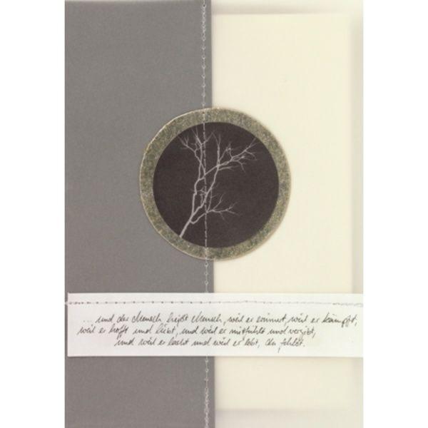 """Foto Zen Trauerkarte """"und der Mensch heißt Mensch ..."""""""
