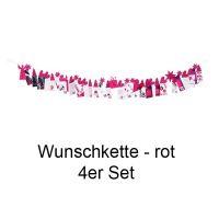 Winterzeit Wunschkette Rot 4er Set