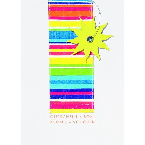 """Fancy Summer Karte - """"Gutschein"""""""