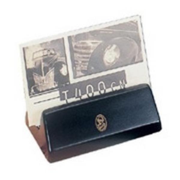 Visitenkartenhalter - Schwarz & 23-Karat vergoldet