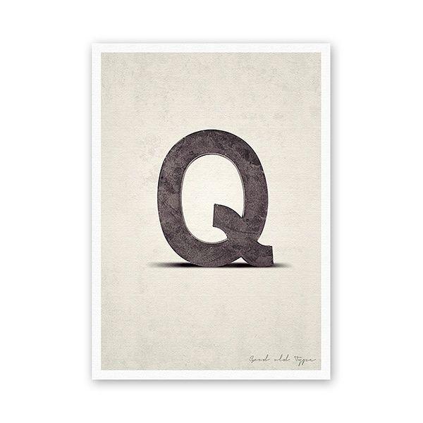 """Postkarte - """"Q"""""""