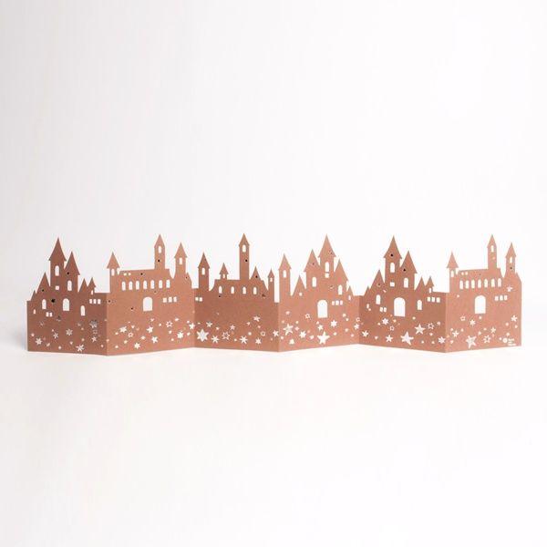 "Winter Tischgirlande ""Burg"""