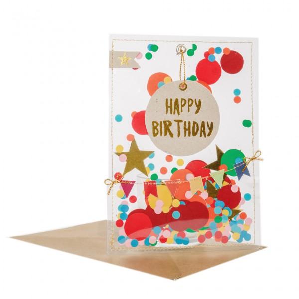 """Party Karte """"Happy Birthday"""""""