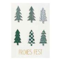 "Patchwork Karte ""Frohes Fest"""