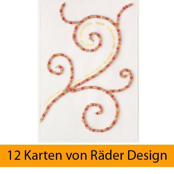 "Bunte Perlen Karte ""Ornament"" 12er Set"