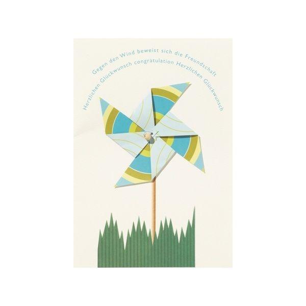 "Windrad Karte ""Gegen den Wind..."""