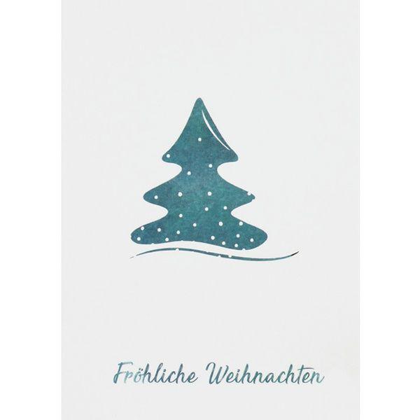"""Weihnachts Aquarell Postkarte """"Fröhliche Weihnachten"""""""