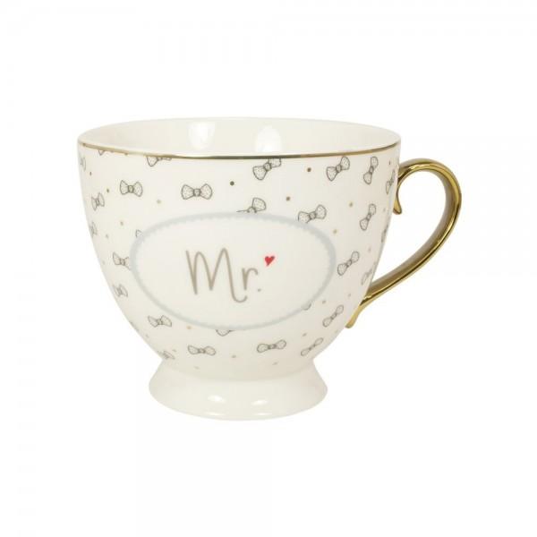 """Tasse mit Goldhenkel im Geschenkekarton """"Mr."""""""
