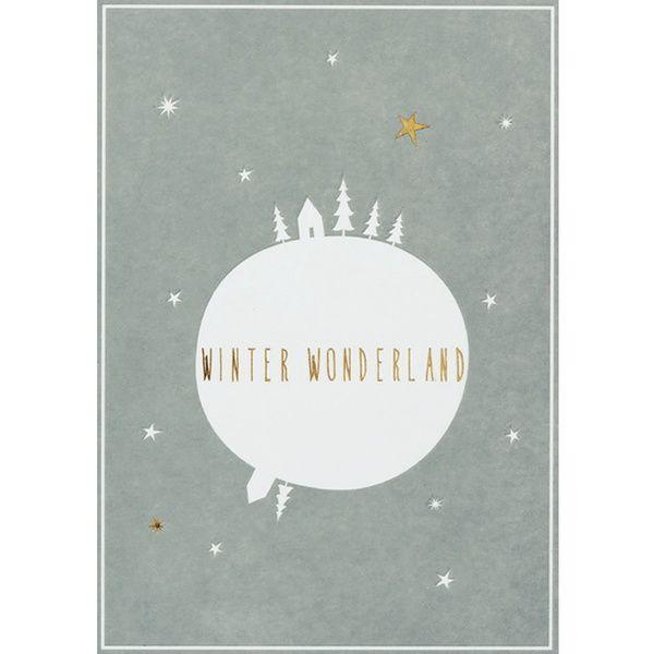 "Winter Postkarte ""Winter Wonderland"""