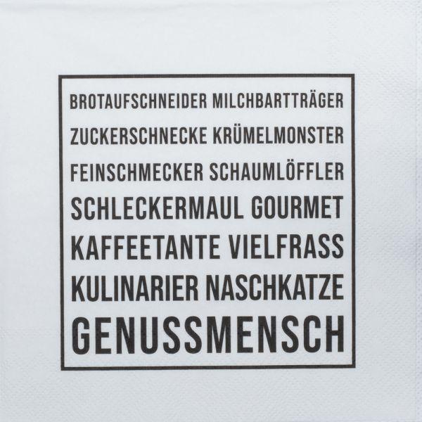 """Serviette """"Genussmensch"""""""