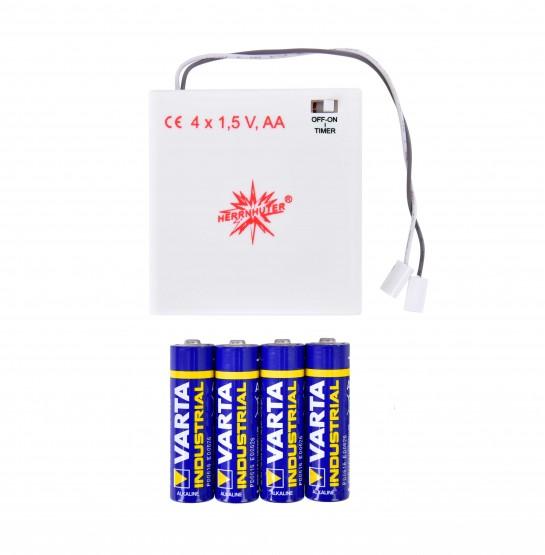 Batteriehalter für 1 Stern, mit Timer