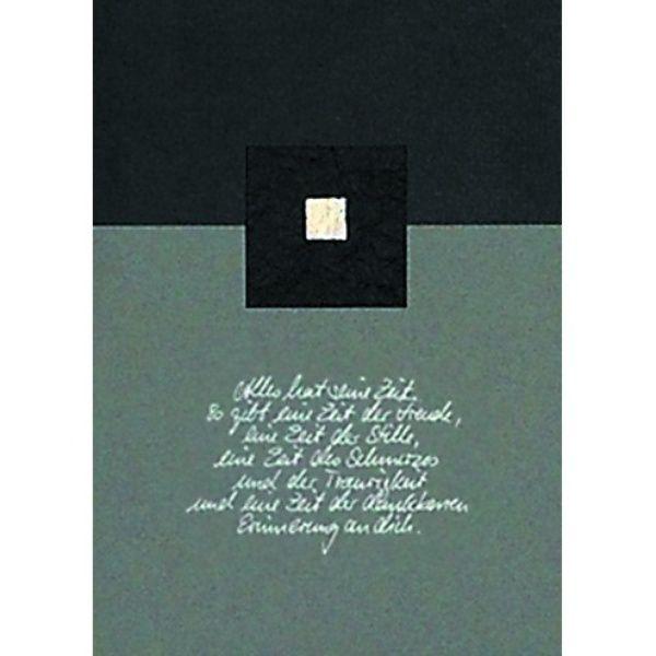 """Trauerkarte - """"Alles hat seine Zeit"""""""