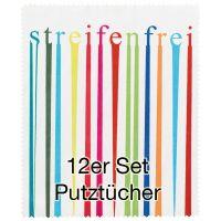 """Putztuch """"streifenfrei"""" 12er Set"""