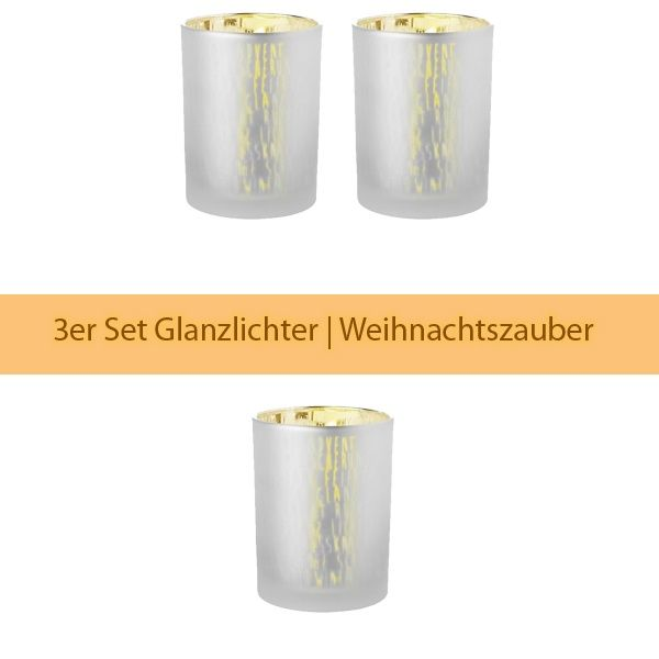 "Glanzlicht ""Advent,..."", Gold 3er Set"