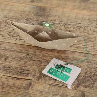 "Papierbootkarte ""Viel Glück"""