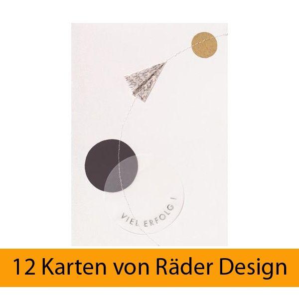 "Design Stitching Karte ""Viel Erfolg"" 12er Set"