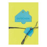 """Gutscheinpräge Karte """"Haus"""""""