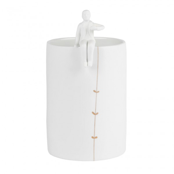 """Porzellangeschichten Vase """"Gärtner"""""""