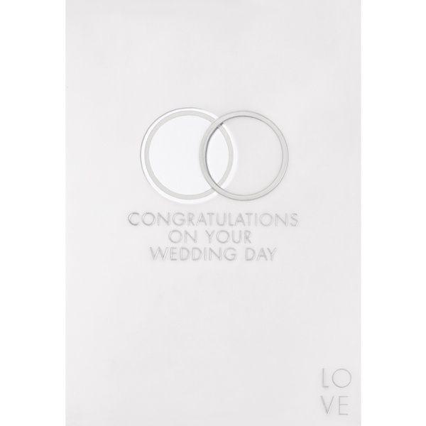 """Transparente Hochzeitskarte """"Congratulations"""""""