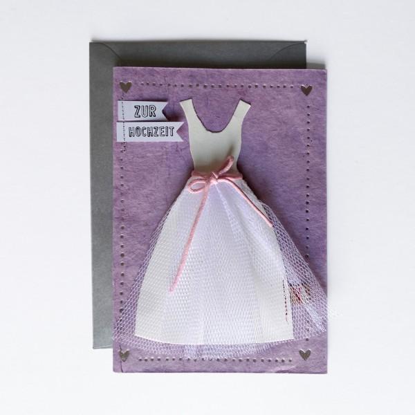"""Hochzeitskleid Karte """"Rosa"""""""
