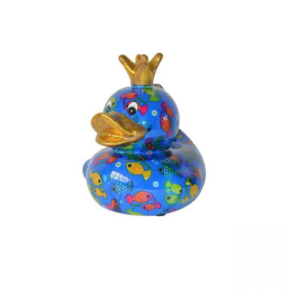 Ducky M - Blau mit Fischen