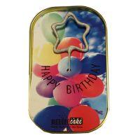 """Kuchen mit Wunderkerze """"Happy Birthday"""" Ballon"""