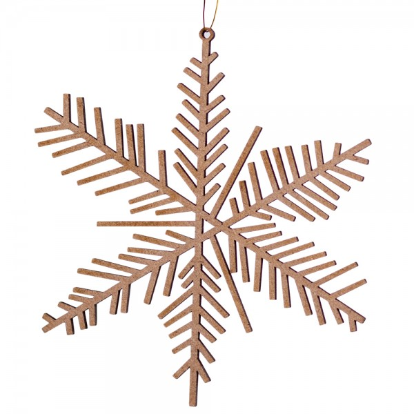 Eis & Schnee Holzornament, klein