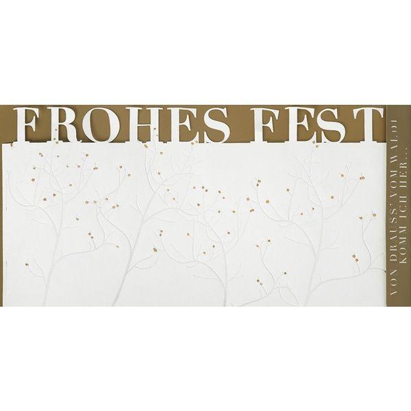 """Weihnachts Windlichtkarte """"Frohes Fest"""""""