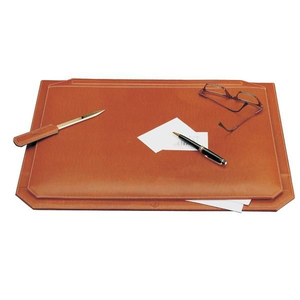 Schreibtischauflage Leder Cognac
