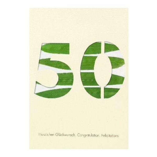 """Blumenzahlenkarte """"50 - Herzlichen Glückwunsch"""""""