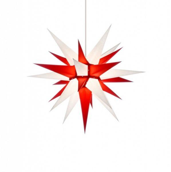 Weihnachtsstern für Innen, Weiß-Rot 60 cm