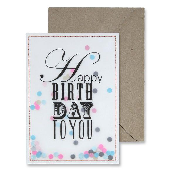 """Konfettikarte """"Happy Birthday"""""""