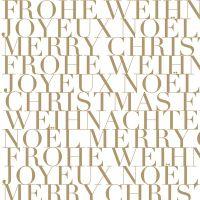 """Servietten """"Frohe Weihnachten, gold"""""""
