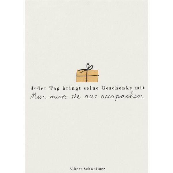 """Fanpostkarte """"Jeder Tag bringt seine Geschenke mit"""""""