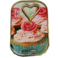 """Kuchen mit Wunderkerze """"Für Dich"""" CupCake"""