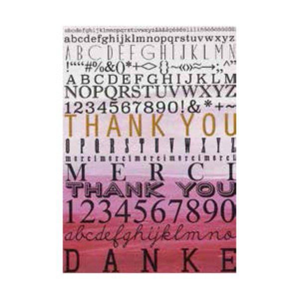 "Postkarte Buchstaben ""Danke"""