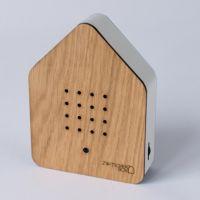 Zwitscherbox Holz -eiche / weiß-